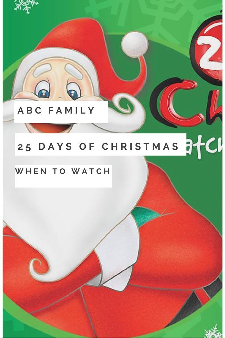 ABC Family's 25 Days of Christmas complete list. Great holiday movies to watch with family.