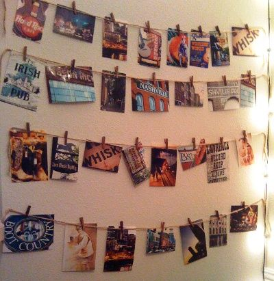 clothespin photo arrangement also if you 39 re using regular photos featuring people this. Black Bedroom Furniture Sets. Home Design Ideas
