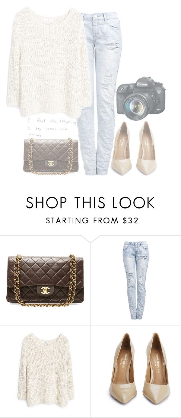 """""""Outfit"""" by hyperactivecold ❤ liked on Polyvore featuring Chanel, MANGO, Kurt Geiger and Eos"""