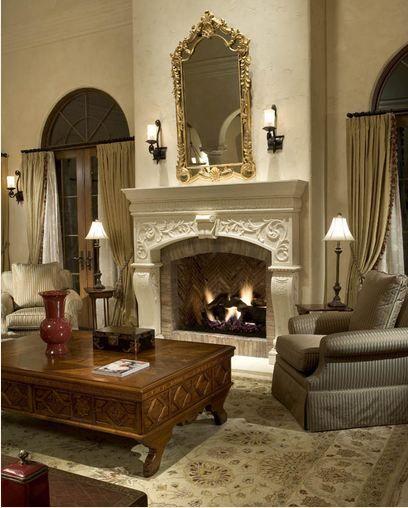 die besten 25 kalkstein kamin ideen auf pinterest au enwohnbereiche land kamin und leben. Black Bedroom Furniture Sets. Home Design Ideas