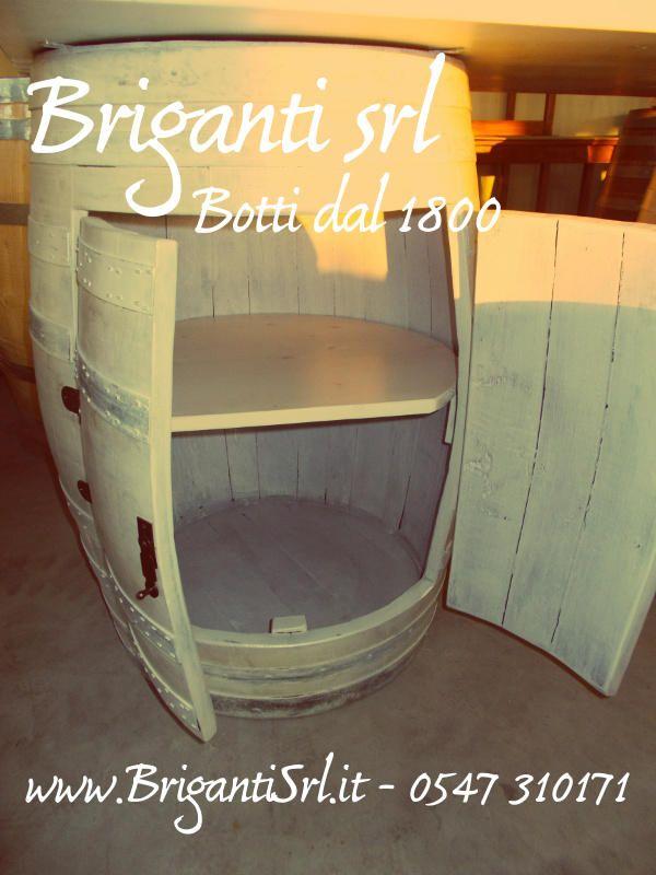 2091 - Portabottiglie sbiancato a 2 ante - Briganti srl
