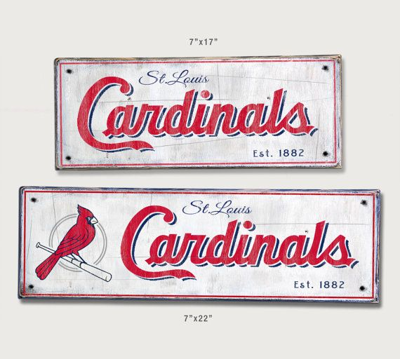 St. Louis Cardinals Distressed Wood Sign   Cardinals Rustic Home Decor    Gift For Cardinals Fan   Sports Bar Man Cave Boys Room Decor