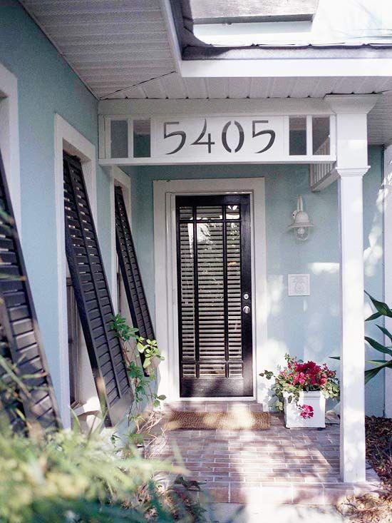 12 Ways to Enhance Your Front Entry  Fun Front Doors  Home Black front doors Front door design