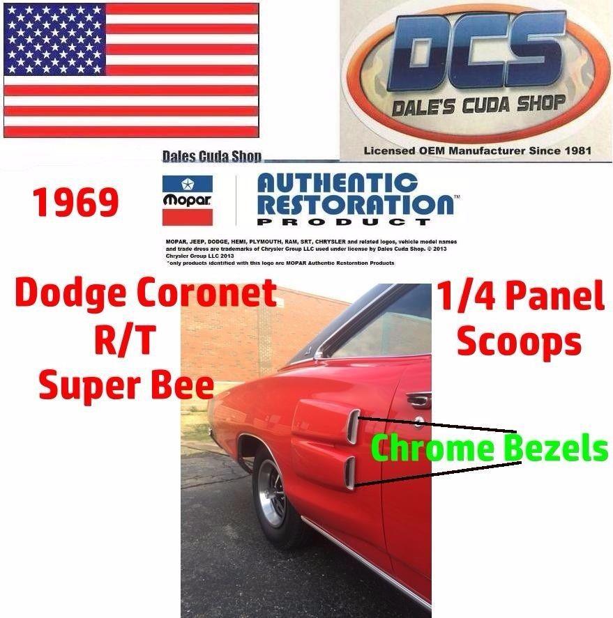 1970 1971 1972 1973 1974 Dodge Challenger Hood Scoops Inserts Mopar USA NEW
