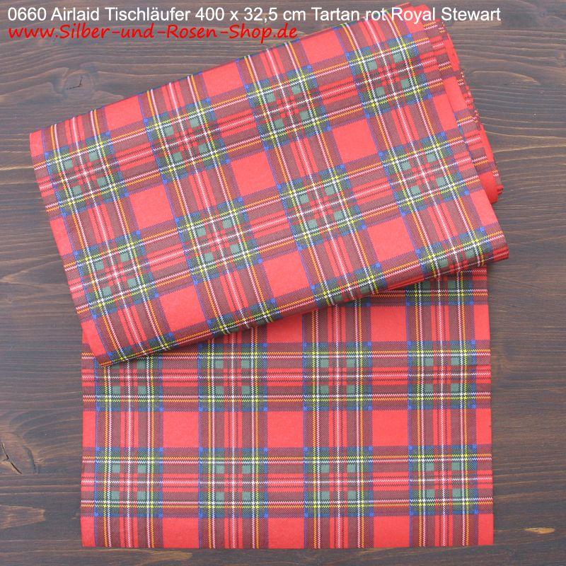 Airlaid Tischläufer rotes Schottenkaro   Tartan Scotland ...