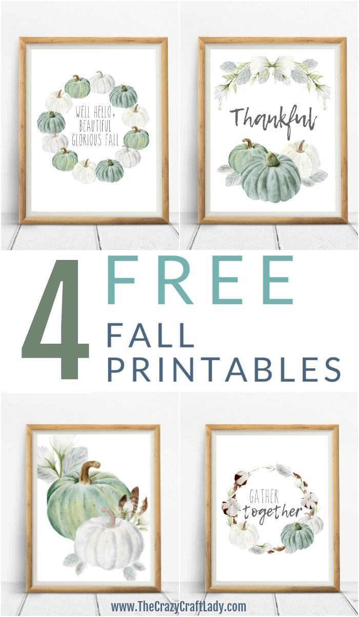 8 FREE - Neutral Farmhouse Style Fall Printables #fallseason