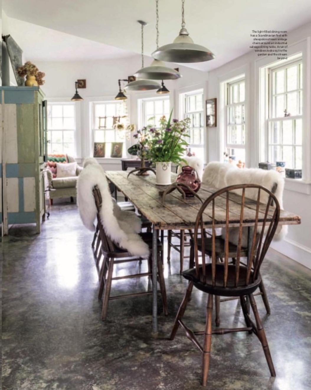 the helena may dining room | Helena Christensen Catskills home dining room | Helena ...