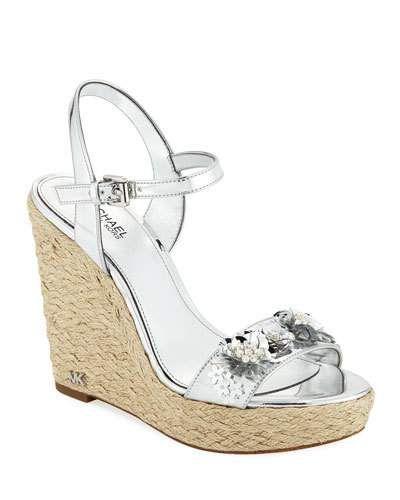 a459ace7461 MICHAEL Michael Kors Jill Metallic Leather Espadrille Wedge Sandal ...