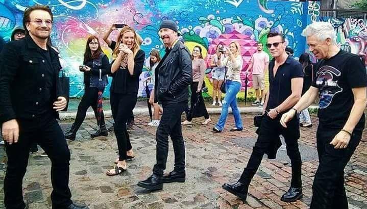 U2 in Brazil  Photographer unknown | U2 | Bono u2, Larry