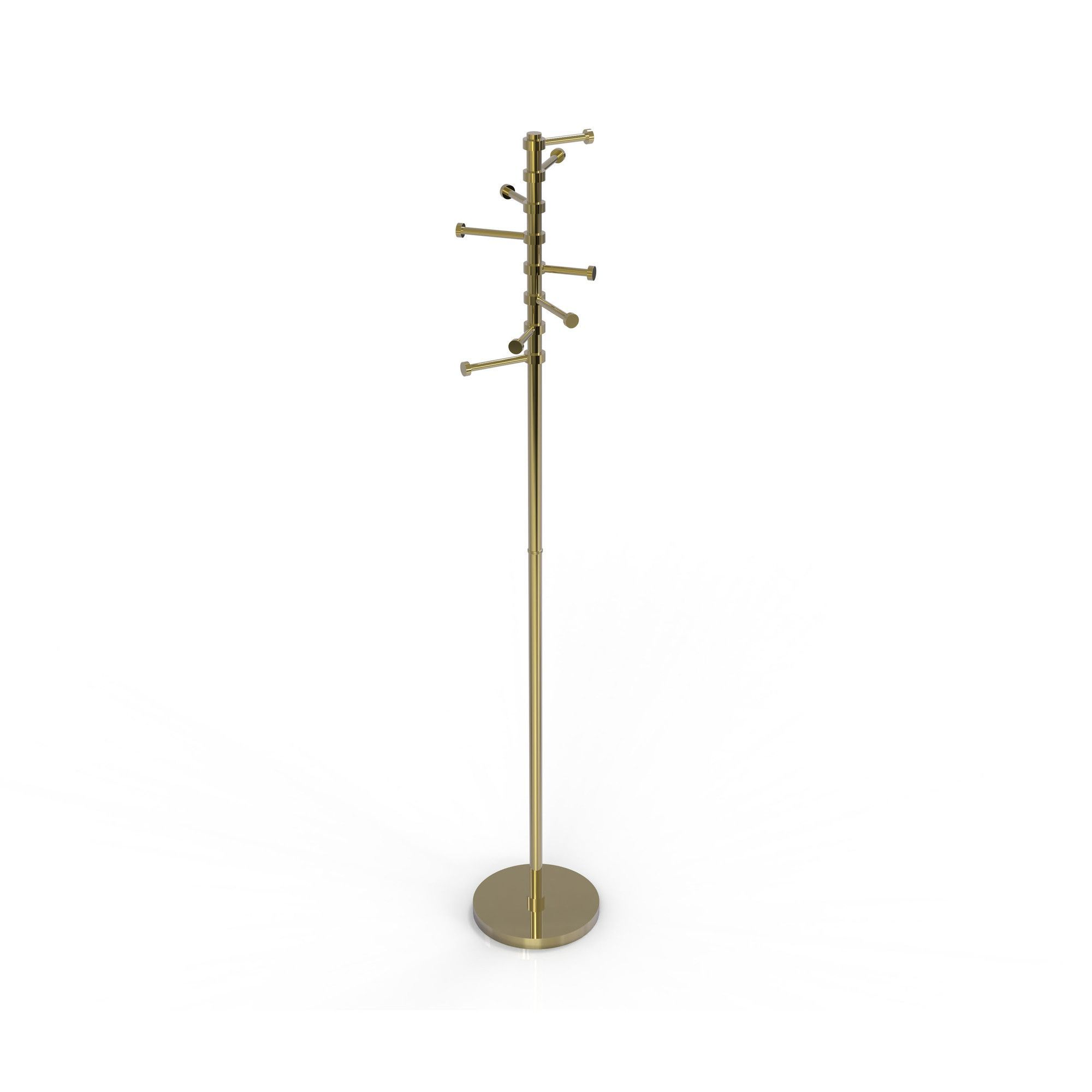 Free Standing Coat Rack with Six Pivoting Pegs