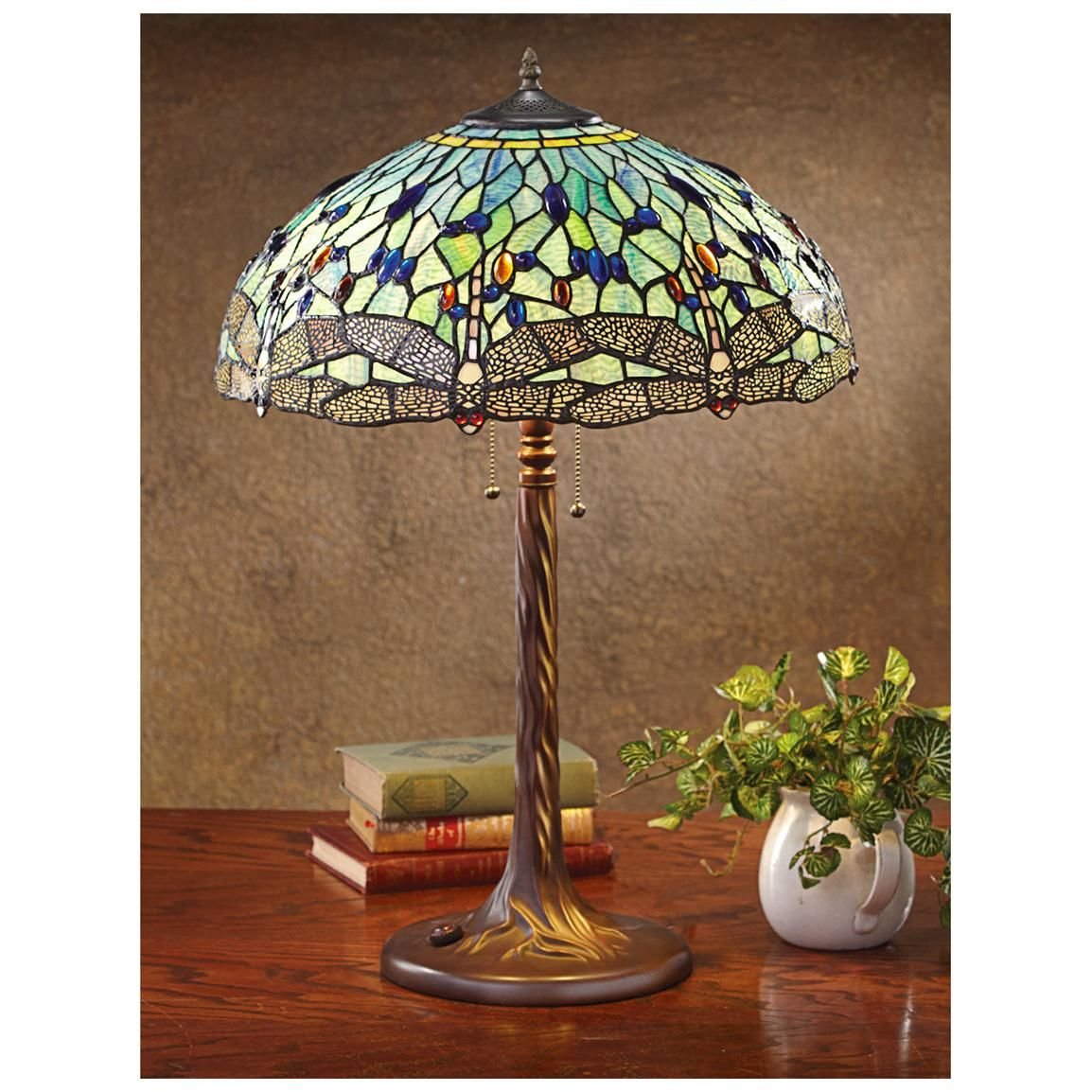 Dragonfly tiffany style table lamp lighting pinterest dragonfly tiffany style table lamp geotapseo Gallery