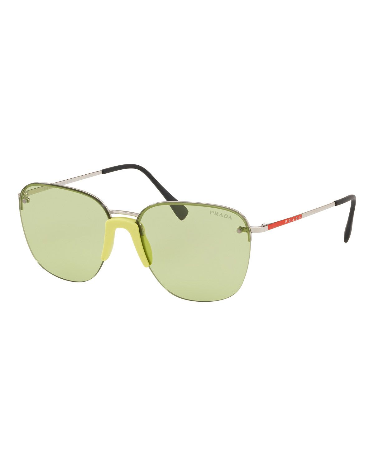 42cefd88e94 PRADA MEN S RIMLESS METAL SUNGLASSES.  prada