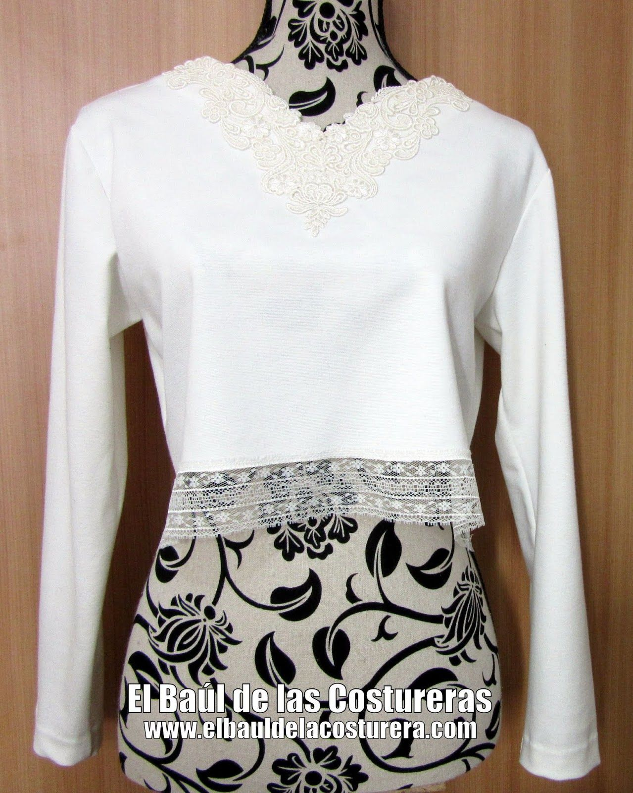 Blusa BC133 Crop Top Manga Larga | Costura | Pinterest | Costura ...