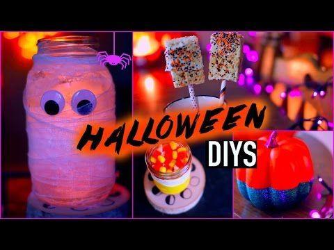 DIY halloween decorations + treats - YouTube Youtube Halloween
