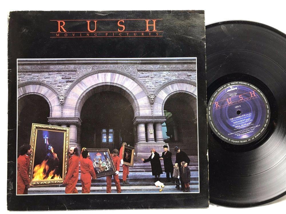 Rush Moving Pictures Vinyl Record 1981 Rl Masterdisk Srm 1 4013
