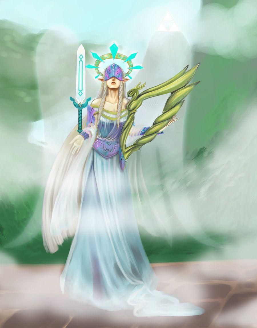 The Guardian Goddess Hylia by Sarinilli on DeviantArt