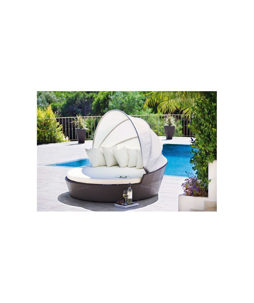 Buy Rattan Patio Day Bed with Canopy at Argos Your line