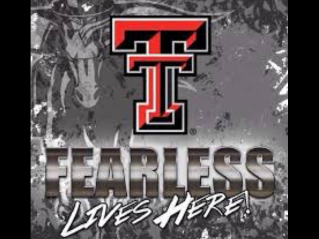 FEARLESS LIVES HERE Texas tech football, Texas tech
