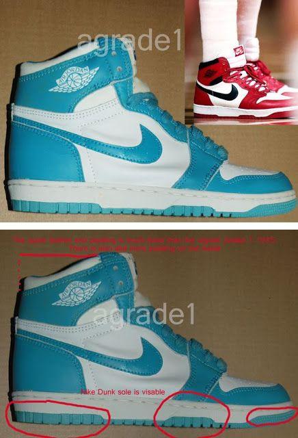 "buy online 8d5f0 60411 THE SNEAKER ADDICT 1985 Nike Air Jordan 1 Dunk Sole OG ""UNC"" Sample  Sneaker (Detailed Images)"