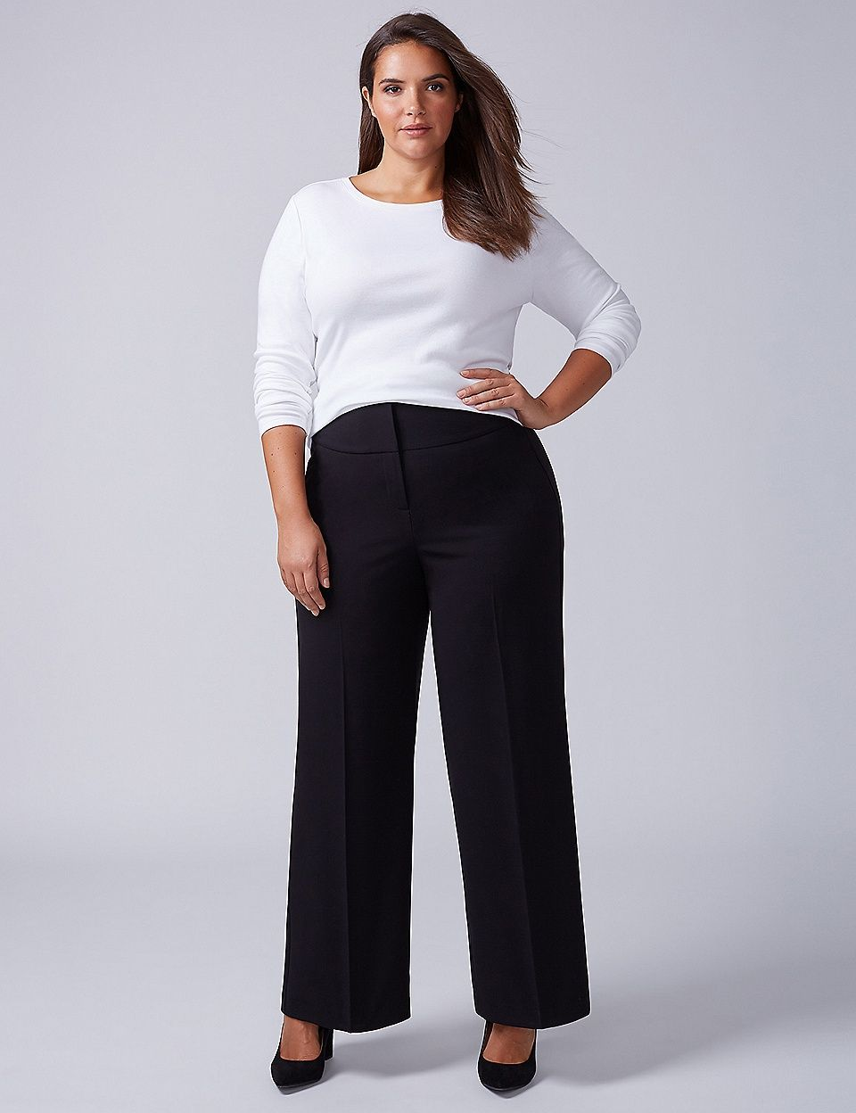 41aa7bfd7b2 Lena Tailored Stretch Wide Leg Pant - Corset Lace-Up Back