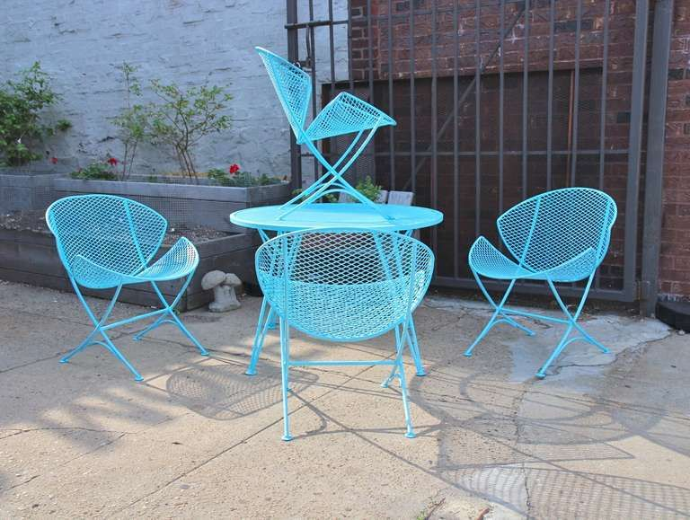 1950s salterini patio table and chairs