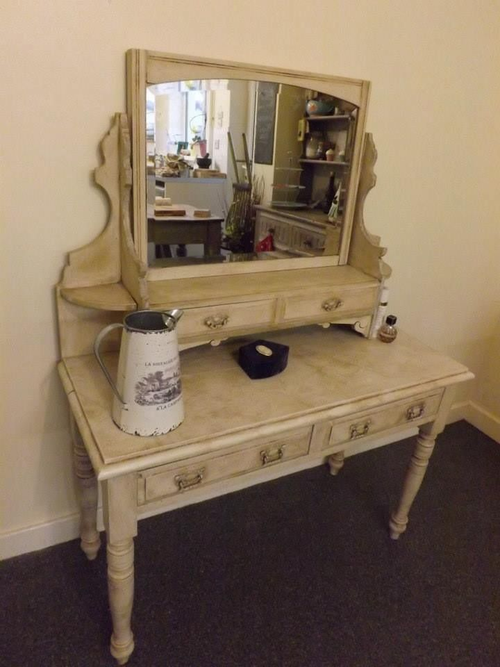 Edwardian Dressing Table Painted In Old White Dressing