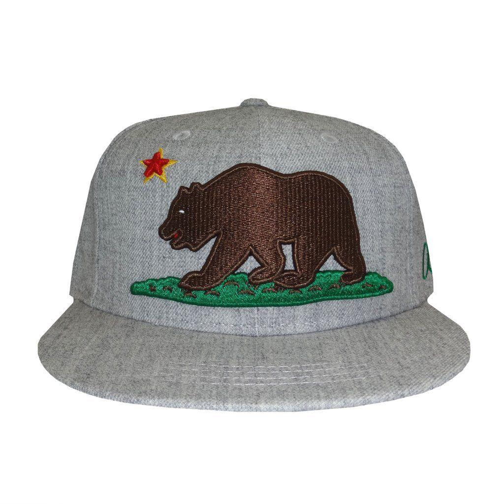 California Grizzly Bear Snapback Hat  6226a56efbf