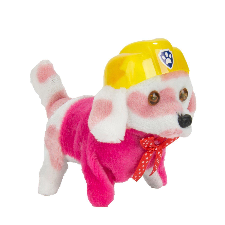Wonderful Gift Shop Walking Barking Wagging Plush Electronic Pink