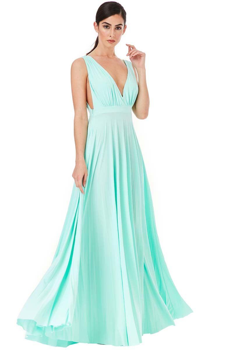 d2b7c90ab84d grecian goddess luxe maxi φόρεμα σε mint