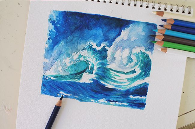 Create Crashing Waves With This Step By Step Mixed Media Tutorial