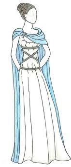 random sketch of a roman woman