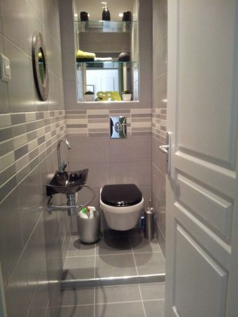 exemple deco wc gris et vert id e d co pinterest deco wc photo deco et gris. Black Bedroom Furniture Sets. Home Design Ideas