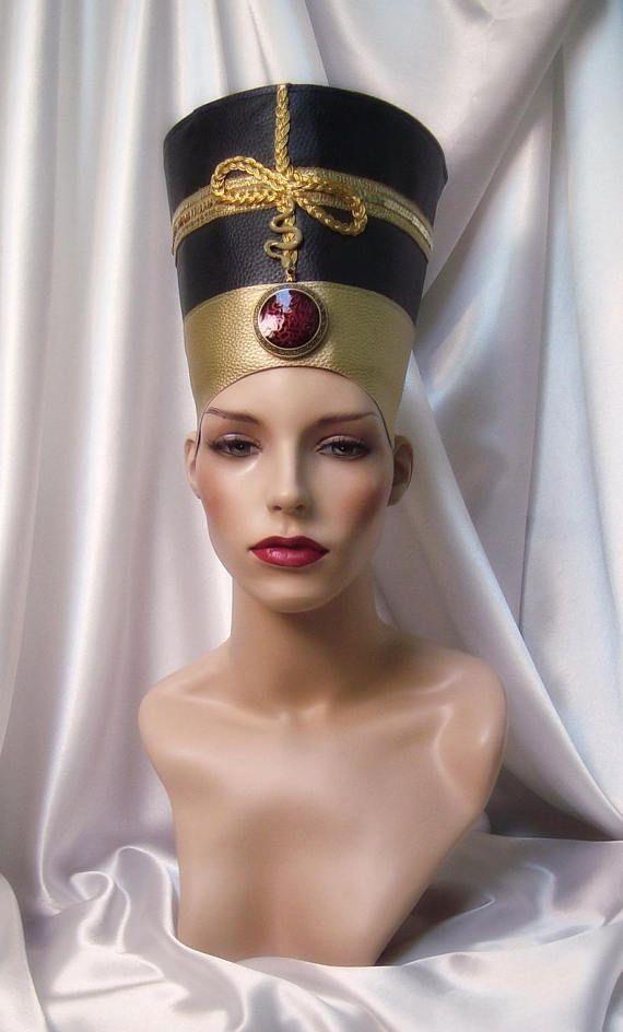 Black And Gold Nefertiti Headpiece Nefertiti Crown Egyptian Queen Inspired Headpiece Cleopatra Headpiece Queen Nefertiti Crown Nefertiti Egyptian Queen Egyptian Fashion