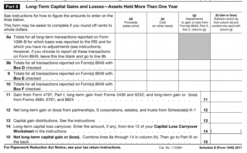 cryptocurrency gain loss tax form