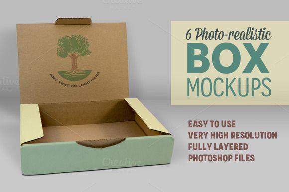 Download 6 Photorealistic Box Mockups V 3 Box Mockup Mockup Free Psd Mockup