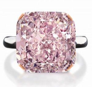 A 2 5 Million 10 Carat Pink Diamond At Edmonton Jewelry Store Purplish Pink Diamond Pink Diamond Pink Diamond Ring