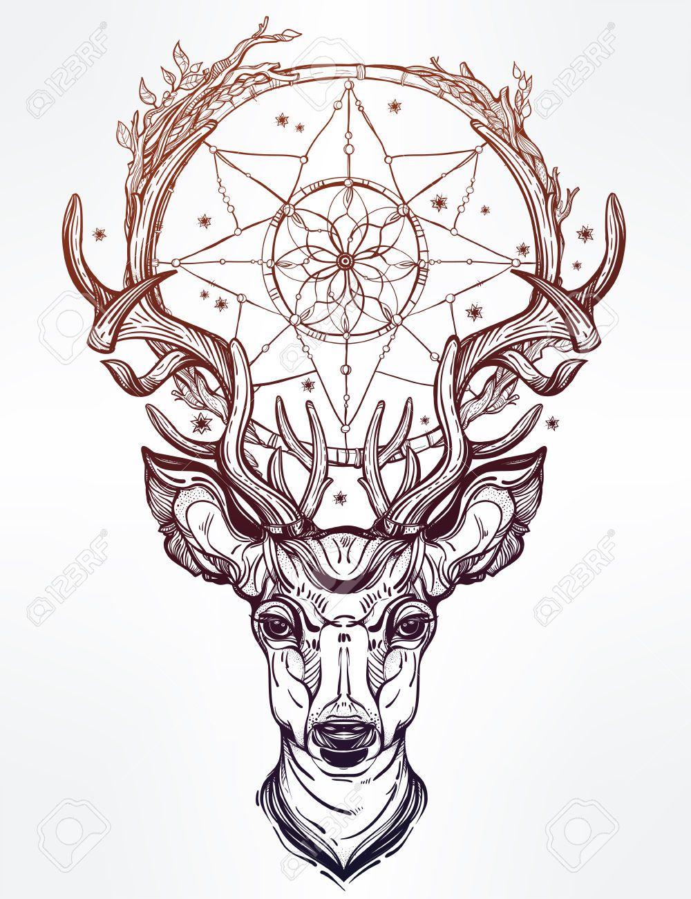 пин от пользователя Konstantin Motrich на доске Tattoo тату олень