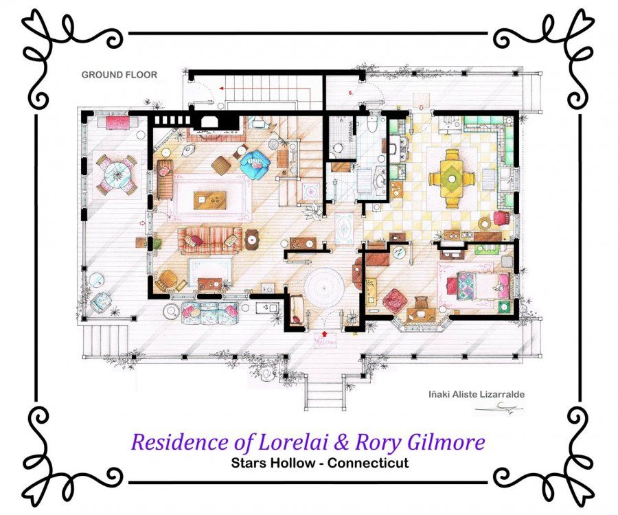 Gilmore Girls House see the floor plans from your favorite tv homes | stars hollow