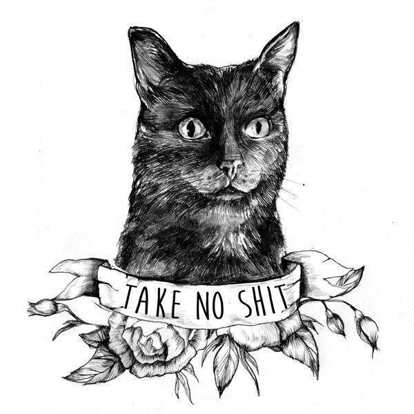 Cat Tattoo Illustration 27 Liked On Polyvore Featuring Accessories Cat Tattoo Designs Cat Tattoo Tattoo Illustration