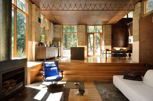 The Nak Architecture Interieure Salon Contrebas Extension Maison