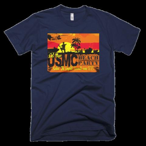 Del Mar Beach Party-Short sleeve men's T-shirt
