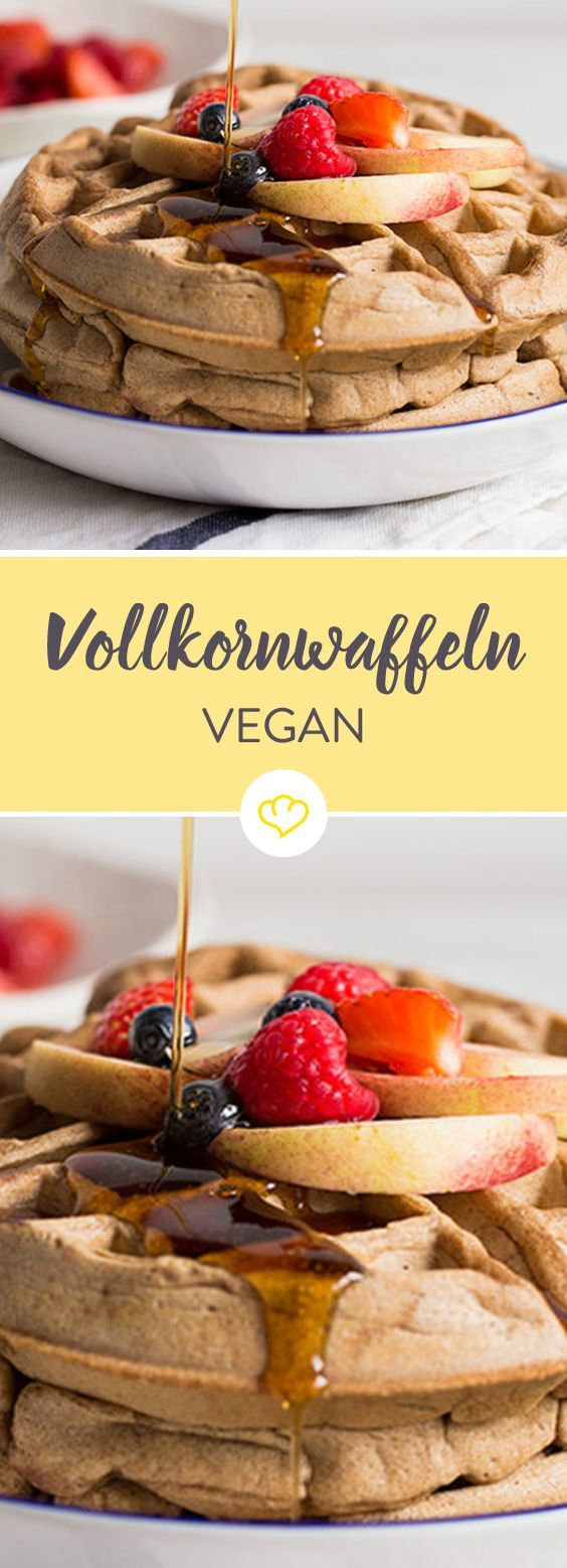 Volles Korn, voller Geschmack. Und dabei vegan! Vegane Vollkornwaffeln - #dabei #fitness #Geschmack...