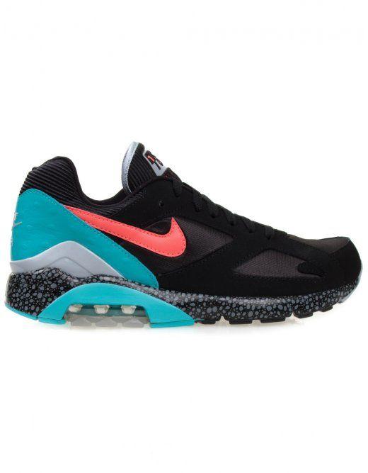 Nike Air Max 180 - Black Laser Crimson - £ 95.00  69773da48