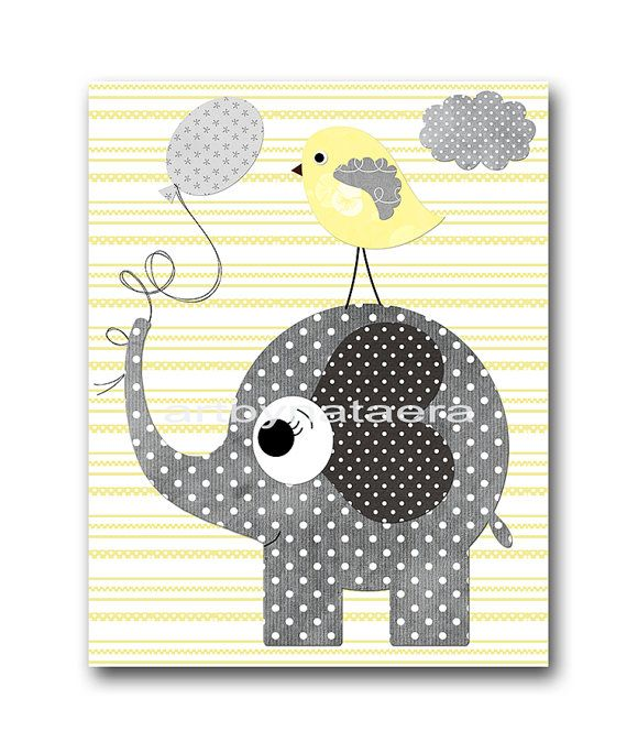 Elephant Nursery Decor Instant Download Print by nataeradownload