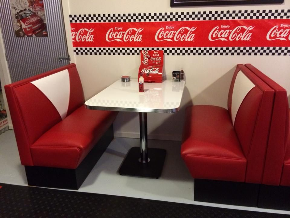 Coca Cola themed red Retro Booths  Our Australian Store