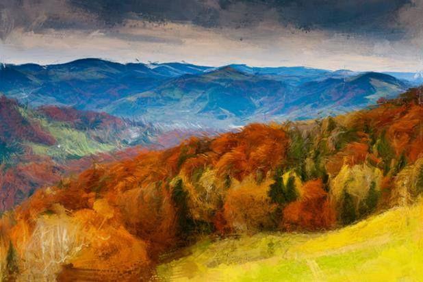 Beautiful watercolor landscape - by PhotoDonut