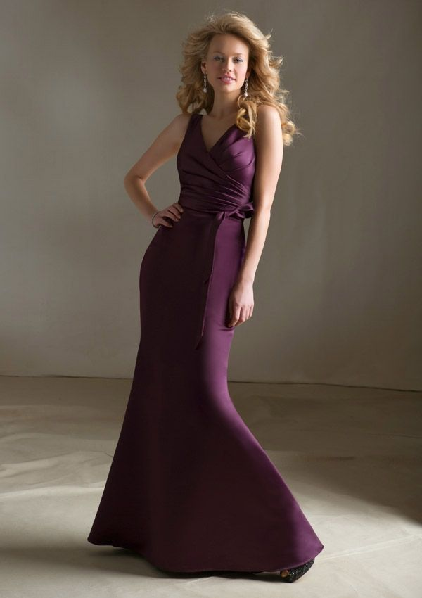 Bridesmaid Dress From Bridesmaids By Mori Lee Style 684 Satin With Tie Sash