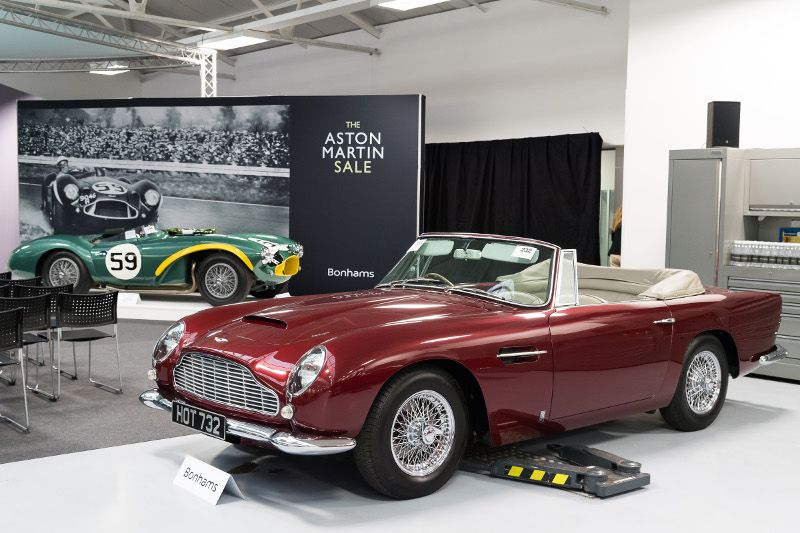 ASTON MARTIN DB CONVERTIBLE Hammer Price In - Aston martin db5 1964 price