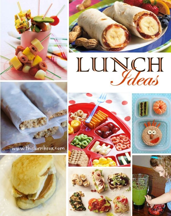 tons of different fun lunch ideas for the kids and I