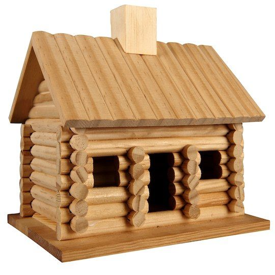 Porch Light Quotes: Log Cabin Birdhouse By ArtMinds™